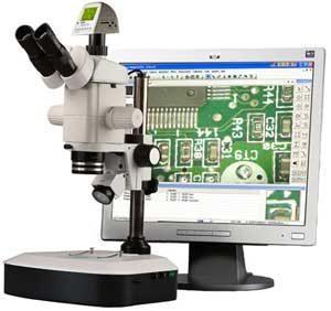 LCD Monocular Stereozoom-Penta Microscope